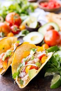 Slow Cooker Honey Lime Chicken Tacos