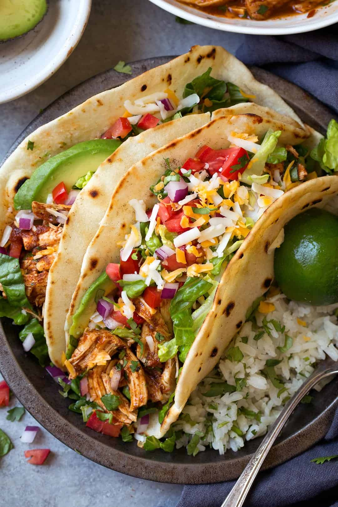 Instant Pot or Slow Cooker Salsa Chicken Tacos