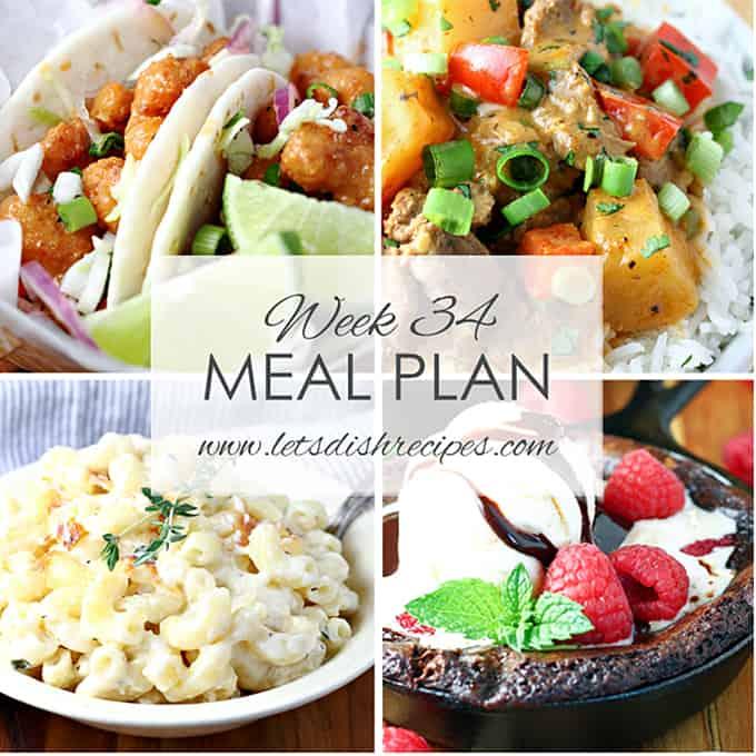 Meal Plan 34