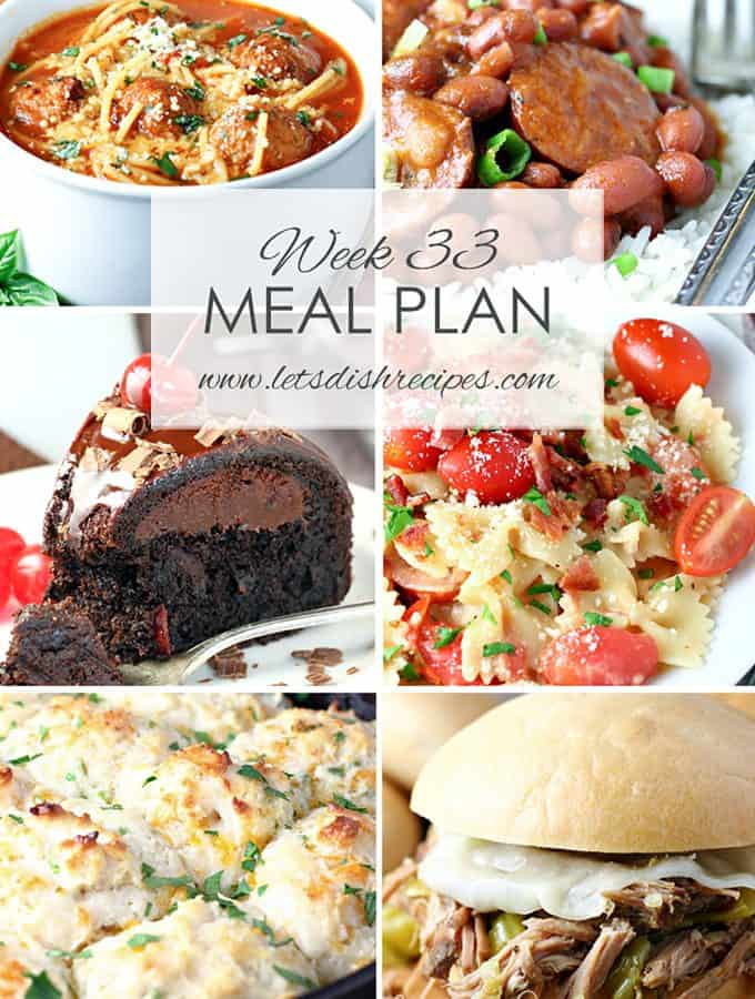 Easy Meal Plan 33