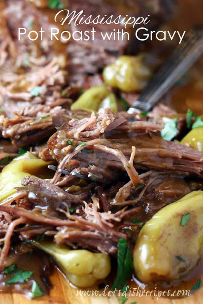 Slow Cooker Mississippi Pot Roast with Gravy