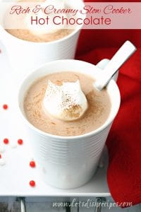 Rich and Creamy Slow Cooker Hot Chocolate