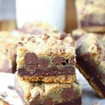 Fudgy Toffee Cookie Bars