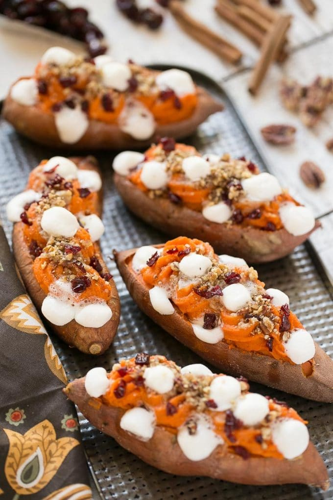 Twice Baked Sweet Potatoes {Dinner at the Zoo}