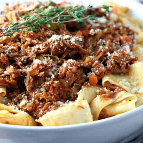 Slow Cooker Shredded Beef Ragu