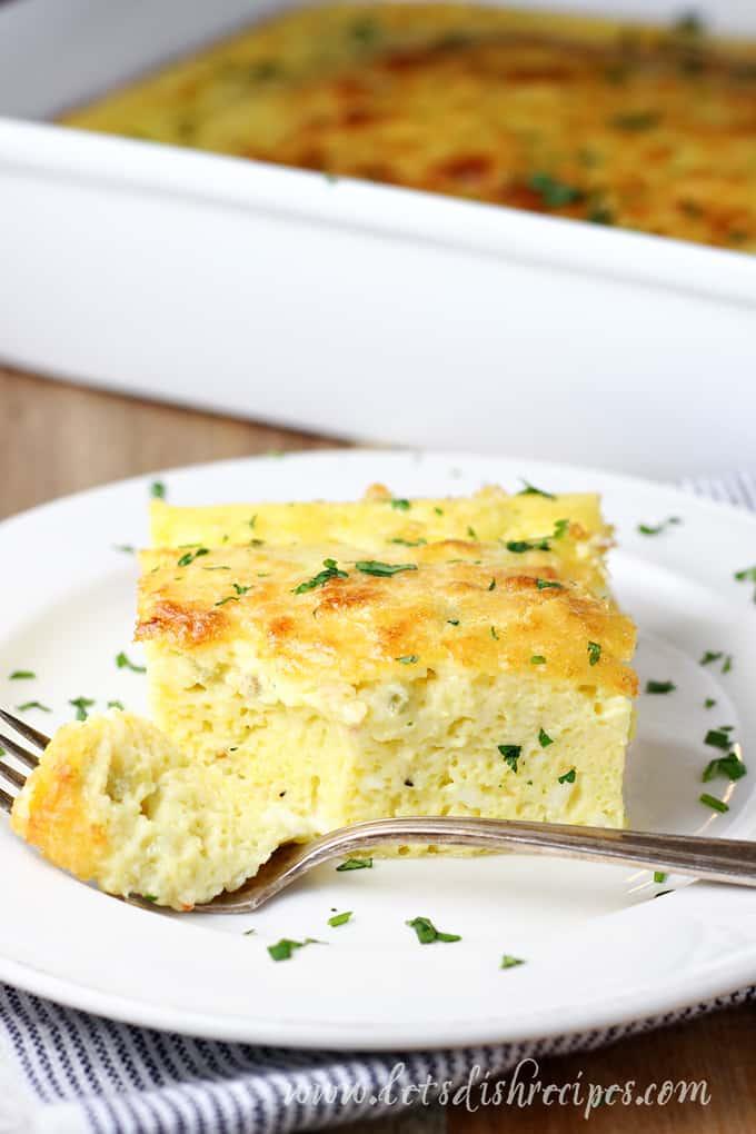Cheesy Green Chile Egg Casserole