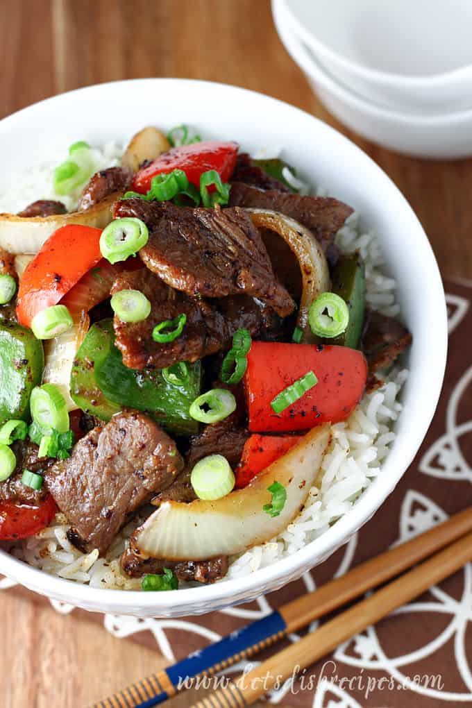 Easy Black Pepper Beef