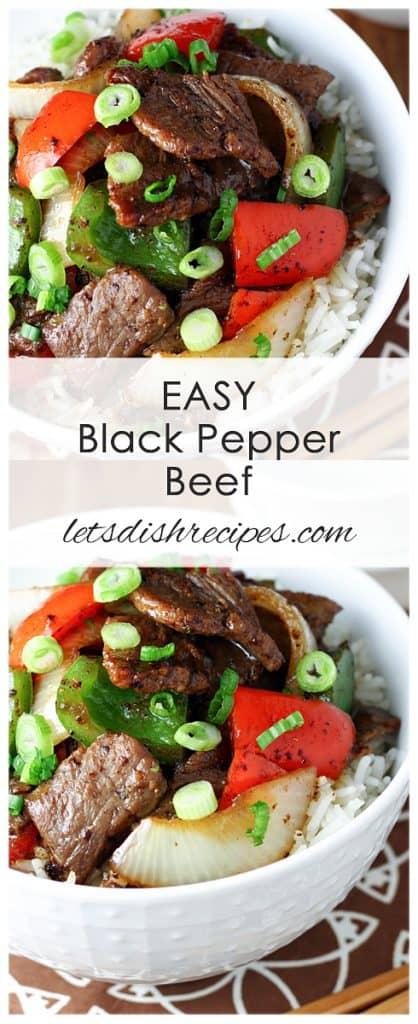 Easy Black Pepper Beef
