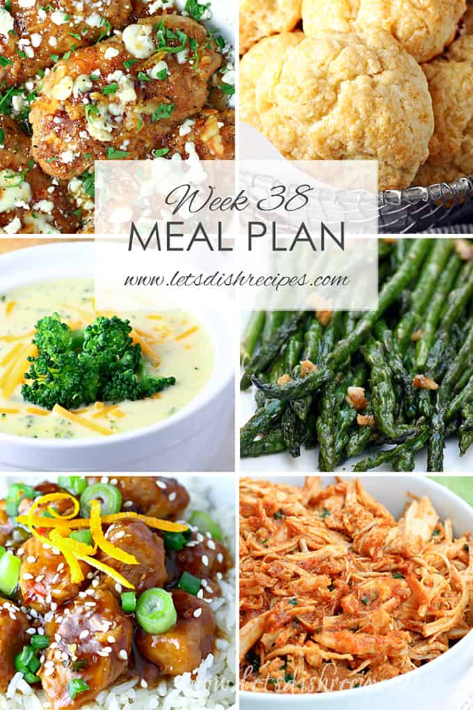 Weekly Meal Plan 38