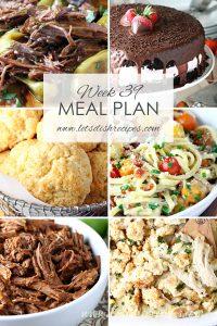 Weekly Meal Plan 39