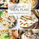 Weekly Meal Plan 40