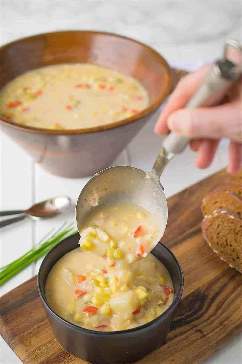 Summer Corn Chowder {Culinary Ginger}