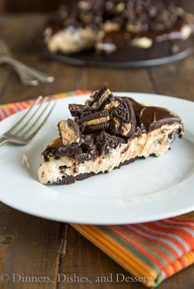 No Bake Peanut Butter Cheesecake by Dinners, Dishes, and Desserts