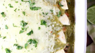 Honey Lime Chicken Enchiladas Verdes