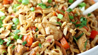 Easy Peanut Chicken Stir Fry