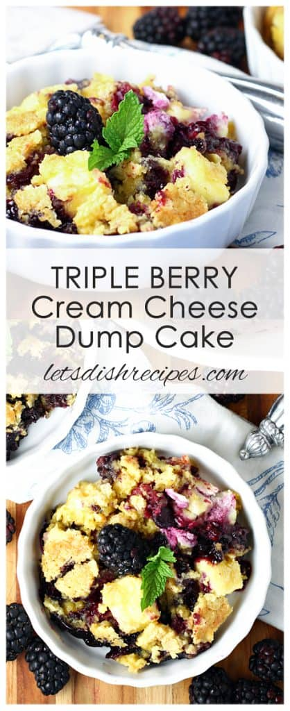 Triple Berry Cream Cheese Dump Cake