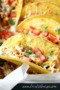 Baked Chipotle Ranch Chicken Tacos