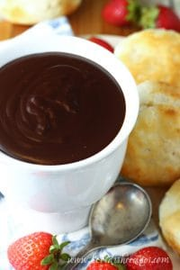 Chocolate Gravy with Biscuits