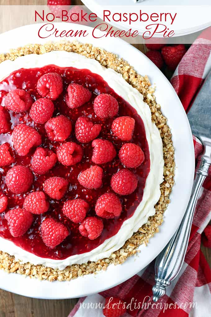 No-Bake Raspberry Cream Cheese Pie