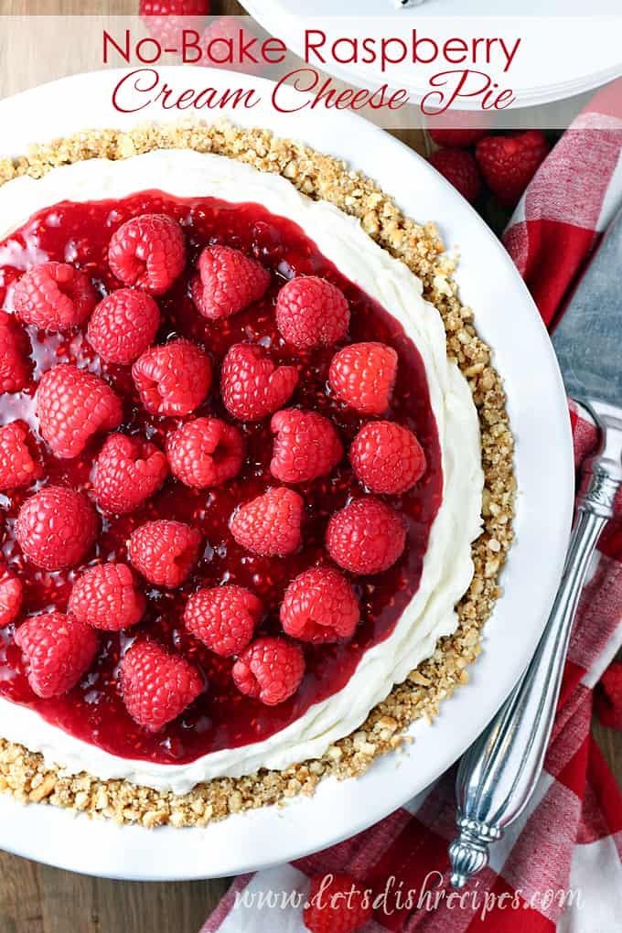 No-Bake Raspberry Cream Cheese Pie