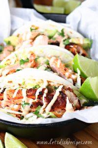 Chile Lime Salmon Tacos