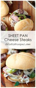 Sheet Pan Cheese Steak Sandwiches