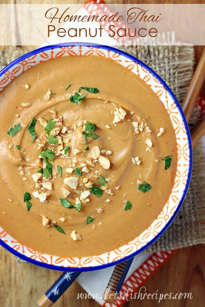 Homemade Thai Peanut Sauce