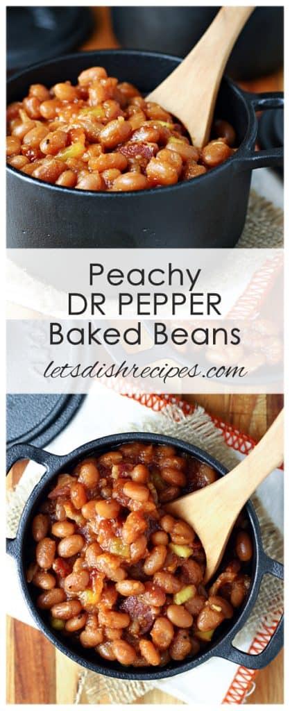 Peachy Dr Pepper Baked Beans