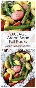 Sausage Green Bean Foil Packs
