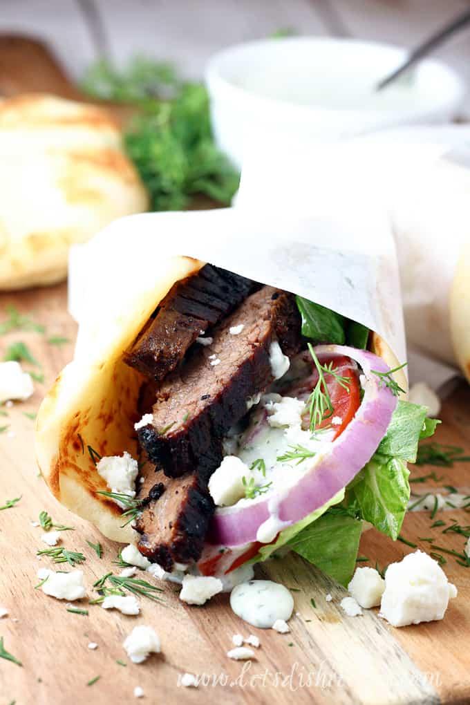 Steak Gyros with Tzatziki Sauce