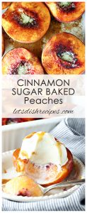 Cinnamon Sugar Baked Peaches