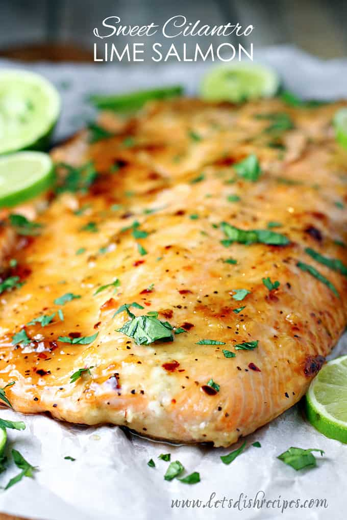 Sweet Cilantro Lime Salmon