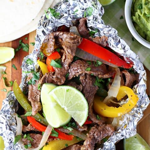Foil Pack Steak Fajitas