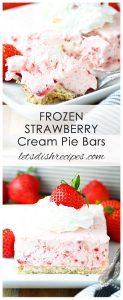 Frozen Strawberry Cream Pie Bars