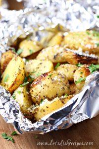 Grilled Garlic Herb Potatoes