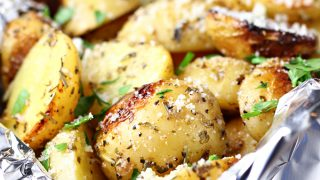 Grilled Garlic Herb Potatoes