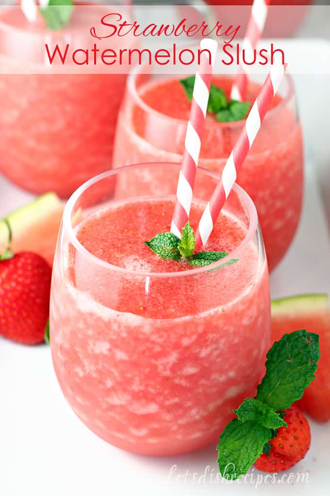 Strawberry Watermelon Fruit Slush