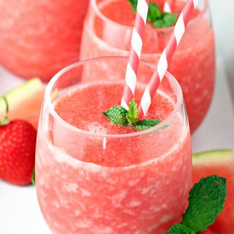 Strawberry Watermelon Fruit Slush