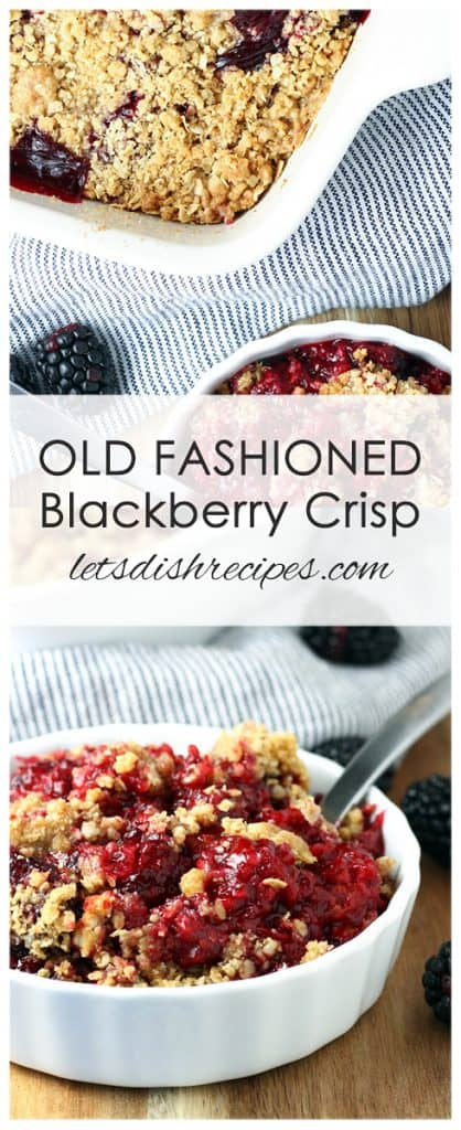 Old Fashioned Blackberry Crisp