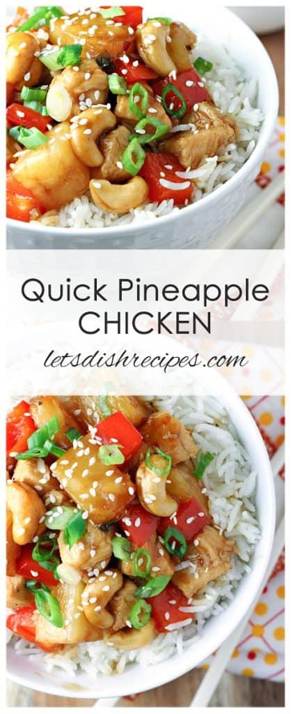 Quick Pineapple Chicken