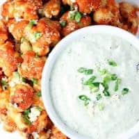 Baked Buffalo Cauliflower Bites