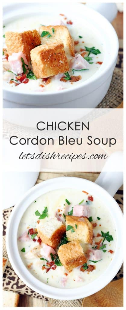 Chicken Cordon Bleu Soup