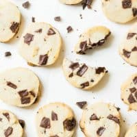 Super Famous Salted Butter Chocolate Chunk Shortbread Cookies