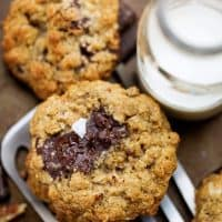 Loaded Dark Chocolate Chip Oatmeal Cookies