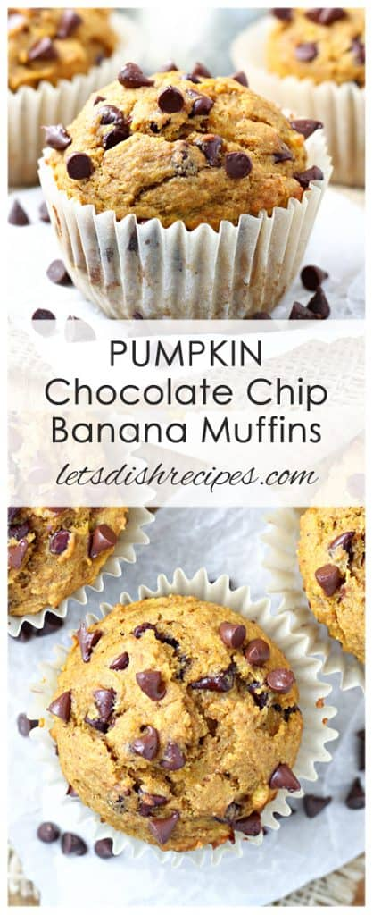 Pumpkin Chocolate Chip Banana Muffins