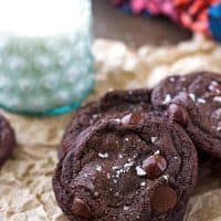 Salted Rolo Stuffed Chocolate Cookies Recipe