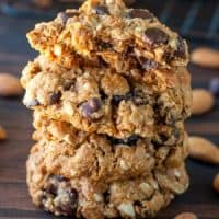 Gluten-Free Chocolate Cherry Oatmeal Cookies