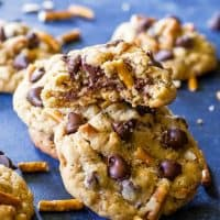 Salted Peanut Butter Pretzel Chocolate Chip Cookies
