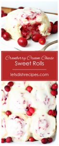 Cranberry Cream Cheese Sweet Rolls