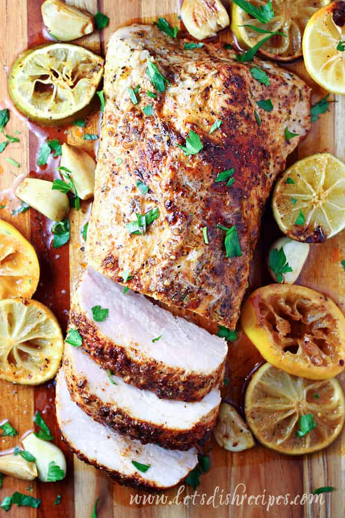 Garlic Citrus Roasted Pork Tenderloin